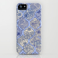 Moroccan Floral Lattice Arrangement - Purple iPhone & iPod Case by Micklyn