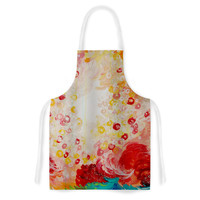 "Ebi Emporium ""Summer Days"" Red Tan Artistic Apron"