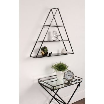 Kate and Laurel 'Tildan' Black Metal 3-tiered Triangle Floating Wall Shelf | Overstock.com Shopping - The Best Deals on Accent Pieces