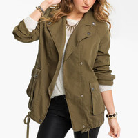 Rubbish® Oversized Army Jacket (Juniors) | Nordstrom