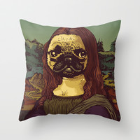 Pugalisa Throw Pillow by Huebucket