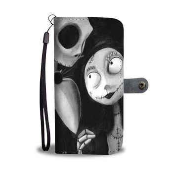 'Jack Skellington & Sally' Black/White [The Nightmare Before Christmas] Wallet Phone Case