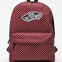 Vans Realm Burg Dots School Backpack - Womens Backpack - Red - NOSZ