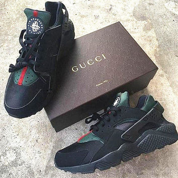 e6f70b4fa75 NIKE Custom Gucci Huaraches Women Breathable Running Sport Sneakers Shoes