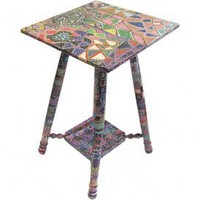 EcoVolveNow Sybil Roe Thompson | Hand Painted Table