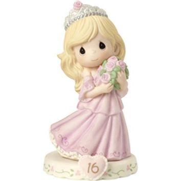 Precious Moments Growing In Grace Age 16 Blonde Girl Figurine
