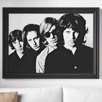 The Doors Painting Poster Art Painting Print