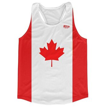 Canada Country Flag Running Tank Top Racerback Track and Cross Country Singlet Jersey