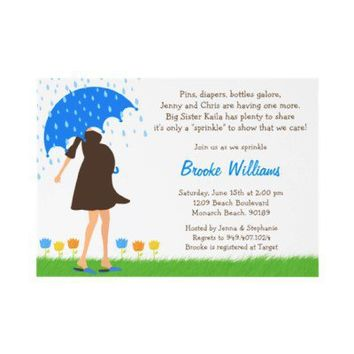 Baby Sprinkle Shower Invitation for Baby Boy from Zazzle.com