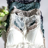 Floral Lace Padded Bralette | Colors