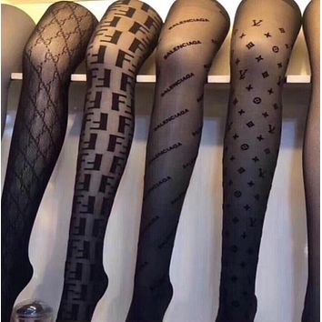 LOUIS VUITTON GUCCI FENDI Balenciaga Fashion Women Sock Sexy Sockings Long Socks