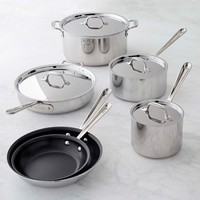 All-Clad Tri-Ply Stainless-Steel Nonstick 10-Piece Cookware Set