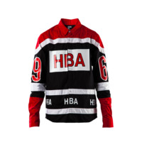 Hood By Air Hockey Button Down HBA Block (Red + Black)