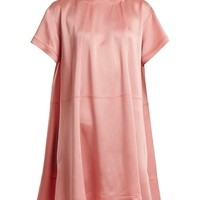 Hammered-satin short-sleeve dress | Valentino | MATCHESFASHION.COM UK