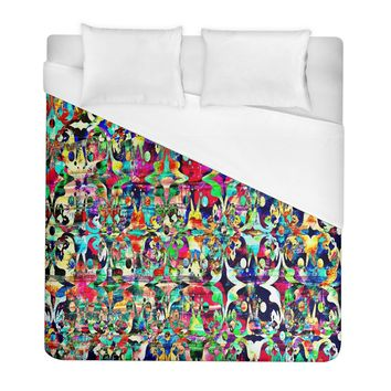 Psychedelic Background Duvet Cover (full/ Double Size)