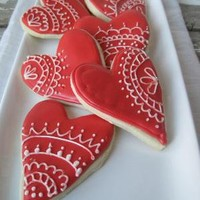 I HEART YOU Valentines Day Organic Treat  1 dozen by cukorcookies