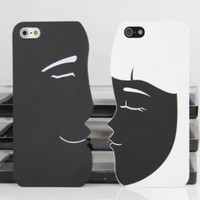 Best2buy365 Valentine's Day Gifts--Cartoon Couple Frosted Hard Case Cover For iphone 5 5G Love Gift 2pcs:Amazon:Cell Phones & Accessories