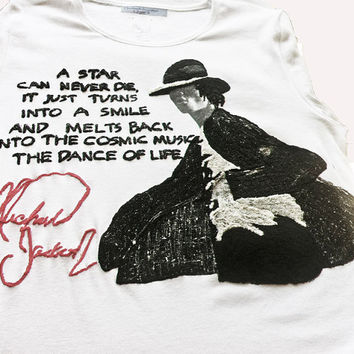 Michael Jackson T-shirt Tshirt MJ t M J Quote Painting 3d Tshirt T Shirt Tシャツ Tee Rock also oversized
