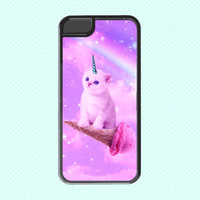 Funky Catsterz Kitty Unicorn on Flying Ice Cream Cone, iPhone 5, iPhone 6 Case, 6 Plus Case, 6+ Case, I Heart Cats