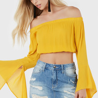 Easy Breezy Off Shoulder Top