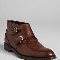 Salvatore Ferragamo Arezzo Double Monkstrap Dress Boots | Bloomingdale's