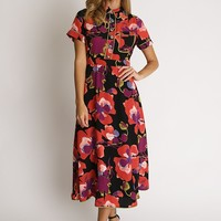 Bloomberg Floral Collared Midi Dress | Ruche