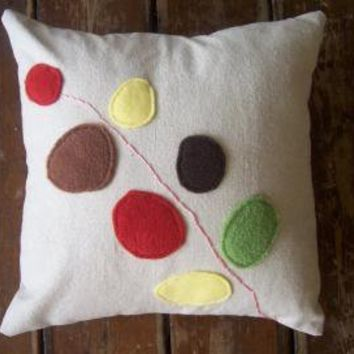 modern flower pillow by pillowhappy on Etsy