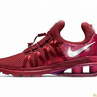 CLEARANCE - Nike Shox Gravity + Crystals - Red Crush - Size 6
