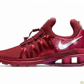 CLEARANCE - Nike Shox Gravity + Crystals - Red Crush - Size 6 b74157476