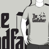 #td The God father movie logo light grey t-shirt