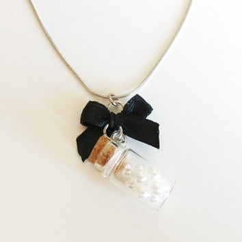 Vial of Pearls Necklace