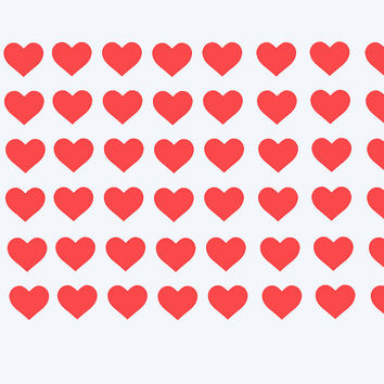 25 Heart Stickers - Valentine's Day Heart Stickers -