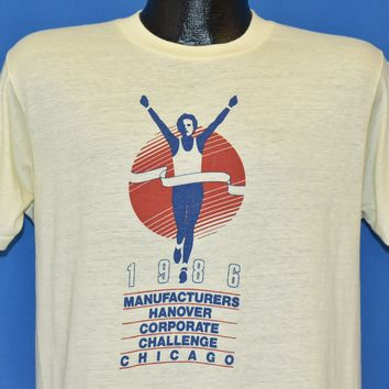 80s Chicago Race 1986 Corporate Challenge t-shirt Medium