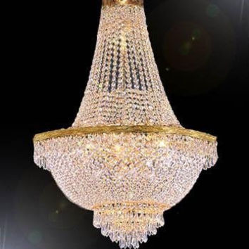 """44X66"""" French Empire Crystal Chandelier Lighting Gold Chandeliers - Go-A93-870/24"""