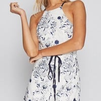 Casual Spaghetti Strap Backless Belt Printed Straight Jumpsuit