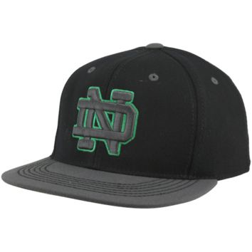 Top of the World Notre Dame Fighting Irish Confidential 86-Fit Hat - Black/Charcoal