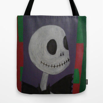 JACK SKELLINGTON/NIGHTMARE BEFORE CHRISTMAS Tote Bag by Kathead Tarot