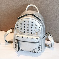 Fendi Fashion New Rivets Diamond Leisure Mini Backpack Bag Women