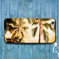 iPhone 4 4s 5 5s 5c 6 6s plus + iPod Touch 4th 5th 6th Gen Custom Cool Beach Ocean Palm Trees California Cover Cute Tropical Hawaii Case