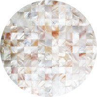 Mother of Pearl Circle Wall Decal