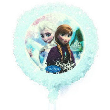 4 count FROZEN Anna & Elsa Disney Princess White Chocolate Covered Oreo Cookie Pops 1/3 Dozen Double Dipped Edible Image Cookies Oreos Party Favors Desserts Gifts Party Supplies Light Blue Sprinkles on a stick & Individually Wrapped - Amazadeal