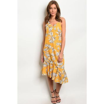 Elena Asymmetrical Flirty Floral Dress