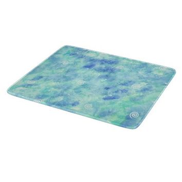 Decorative Glass Cutting Board Blue From Zazzle