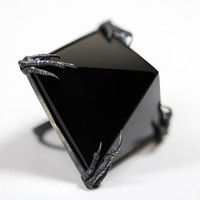 the obsidian tomb ring by BloodMilk on Etsy