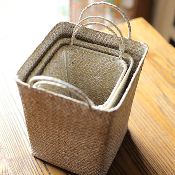 Hand-weaved  Storage Box/Repose Harmonized Basket(J105)