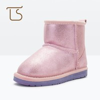 T.S. Children Boots Winter Kids Girls boys Snow Boots Ankle Shoes skid-proof  Waterproof Rubber Sole warm kids Boots Size25-38