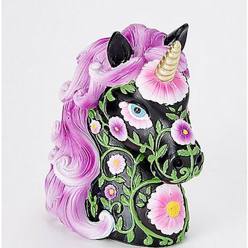 Black and Purple Unicorn Bank - Spencer's