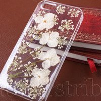 Pressed Flower iPhone 5/5s case, iPhone 4s case, iPhone 4 case, iPhone 5c case Galaxy S3 S4 S5 Note 2 Note 3, Daisy Real Flowers NO:125