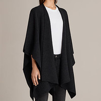 ALLSAINTS UK: Womens Nargo Wrap Shawl (Cinder Black Marl)