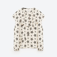 FRILLED PRINTED TOP DETAILS